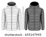 men's hooded insulated down... | Shutterstock .eps vector #655147945