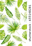 seamless tropical background | Shutterstock . vector #655148281