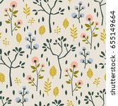 seamless pattern with different ... | Shutterstock .eps vector #655149664