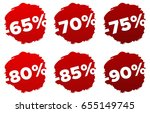 price tags. | Shutterstock .eps vector #655149745