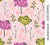 seamless pattern with different ... | Shutterstock .eps vector #655150951