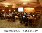 blur of medical conference and... | Shutterstock . vector #655151059