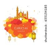 ramadan festival template... | Shutterstock .eps vector #655154185