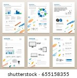 presentation booklets   vector... | Shutterstock .eps vector #655158355
