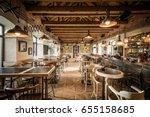 caffe bar interior in wooden | Shutterstock . vector #655158685