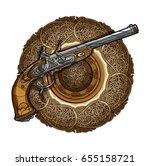 vector illustration crossed