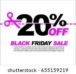 20  off black friday sale ... | Shutterstock .eps vector #655159219