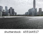 empty downtown street... | Shutterstock . vector #655164517
