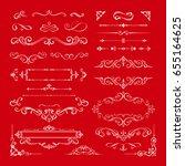 set of vintage decorations... | Shutterstock .eps vector #655164625