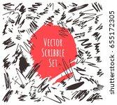 vector set. design elements... | Shutterstock .eps vector #655172305