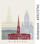 harvard skyline poster in... | Shutterstock .eps vector #655172761