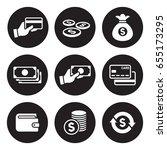 money icons set | Shutterstock .eps vector #655173295