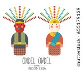 vector stock of ondel ondel  ... | Shutterstock .eps vector #655179139