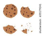 vector stock of chocolate chip... | Shutterstock .eps vector #655179241