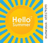 summer background | Shutterstock . vector #655179295