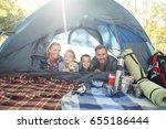 portrait of smiling family... | Shutterstock . vector #655186444