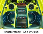 a powerful audio system with... | Shutterstock . vector #655190155