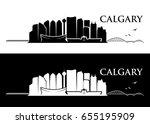 calgary skyline   canada  ... | Shutterstock .eps vector #655195909
