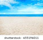 beach and beautiful tropical sea | Shutterstock . vector #655196011
