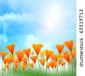 Sunshine Background With Flower