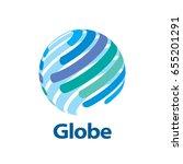vector logo globe | Shutterstock .eps vector #655201291