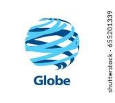vector logo globe | Shutterstock .eps vector #655201339