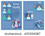 hospital doctors poster for... | Shutterstock .eps vector #655204387