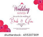 wedding invitation card | Shutterstock .eps vector #655207309