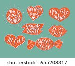 hand drawn romantic vector...   Shutterstock .eps vector #655208317