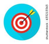 target circle icon. vector... | Shutterstock .eps vector #655215565