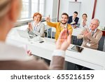 group gives applause to... | Shutterstock . vector #655216159