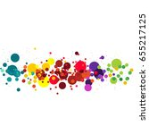 vector illustration of circle ... | Shutterstock .eps vector #655217125