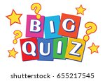 big quiz banner   raster version | Shutterstock . vector #655217545