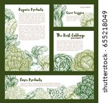 cabbage and leafy vegetables... | Shutterstock .eps vector #655218049