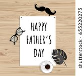 father's day. greeting card.... | Shutterstock .eps vector #655220275