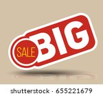 big sale banner for promotion... | Shutterstock .eps vector #655221679