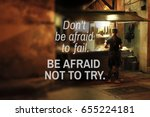 quotes do not be afraid to fail.... | Shutterstock . vector #655224181