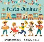 festa junina   brazil june...   Shutterstock . vector #655224511