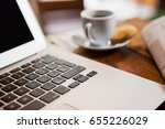 close up of coffee cup by... | Shutterstock . vector #655226029