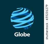 vector logo globe | Shutterstock .eps vector #655231279