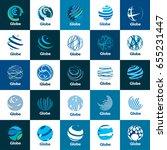 vector logo globe | Shutterstock .eps vector #655231447