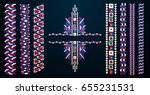 indian jewel. embroidery on... | Shutterstock .eps vector #655231531