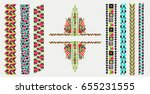 indian jewel. embroidery on... | Shutterstock .eps vector #655231555