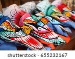 ghost mask of thai   Shutterstock . vector #655232167