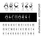 vector alphabet  linear... | Shutterstock .eps vector #655234165