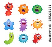 Set Of Germs And Virus Vector...