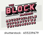 Vector of stylized bold font and alphabet | Shutterstock vector #655239679