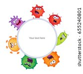 set of germs and virus vector... | Shutterstock .eps vector #655240801