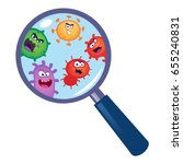 magnifying glass look through... | Shutterstock .eps vector #655240831