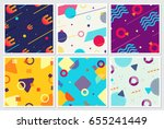 memphis style backgrounds...   Shutterstock .eps vector #655241449